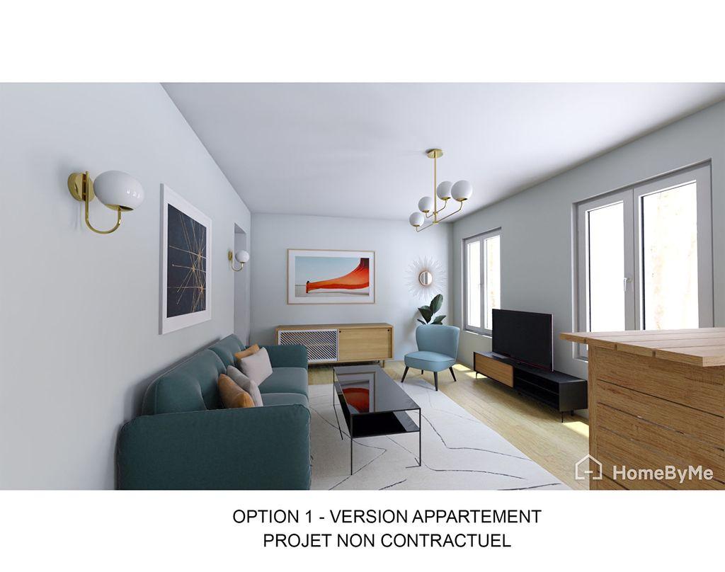 Achat appartement 2pièces 36m² - Paris 20ème arrondissement