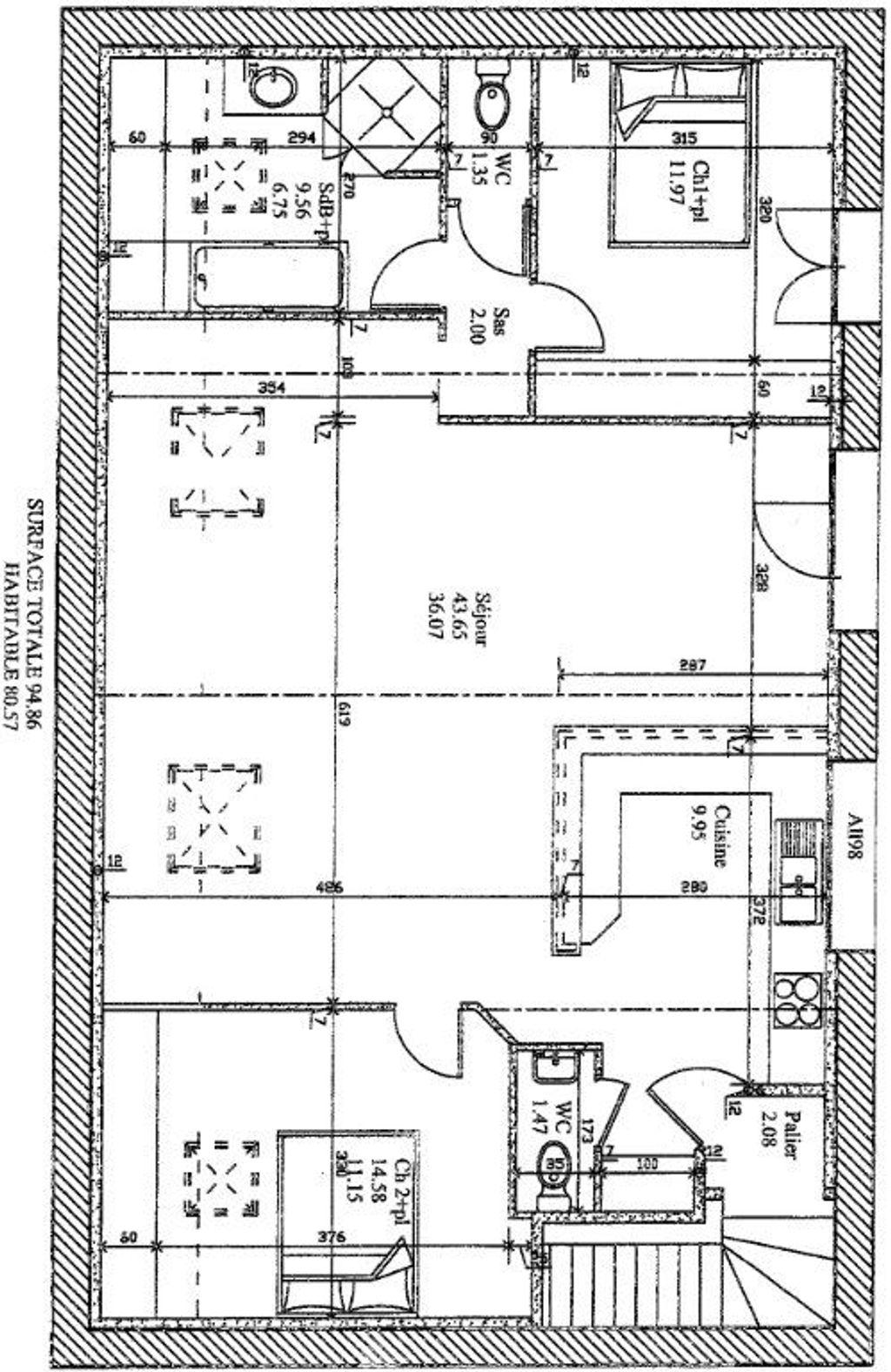 Achat appartement 4pièces 120m² - Montluçon