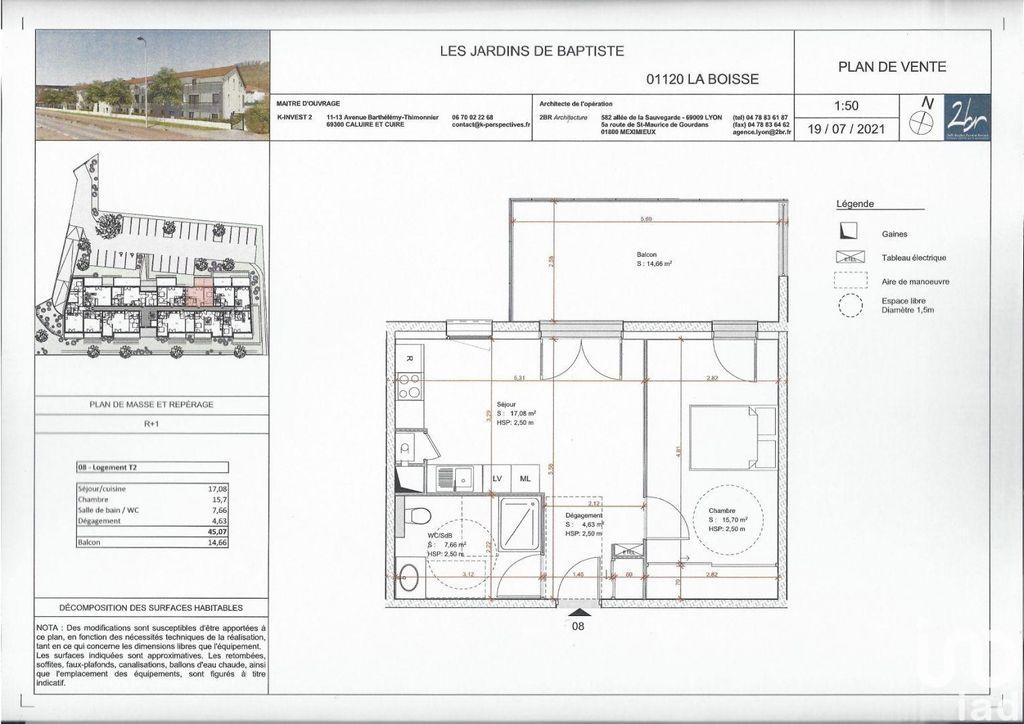 Achat appartement 2pièces 45m² - La Boisse