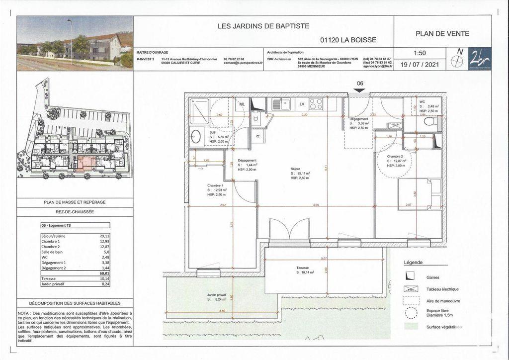 Achat appartement 3pièces 68m² - La Boisse