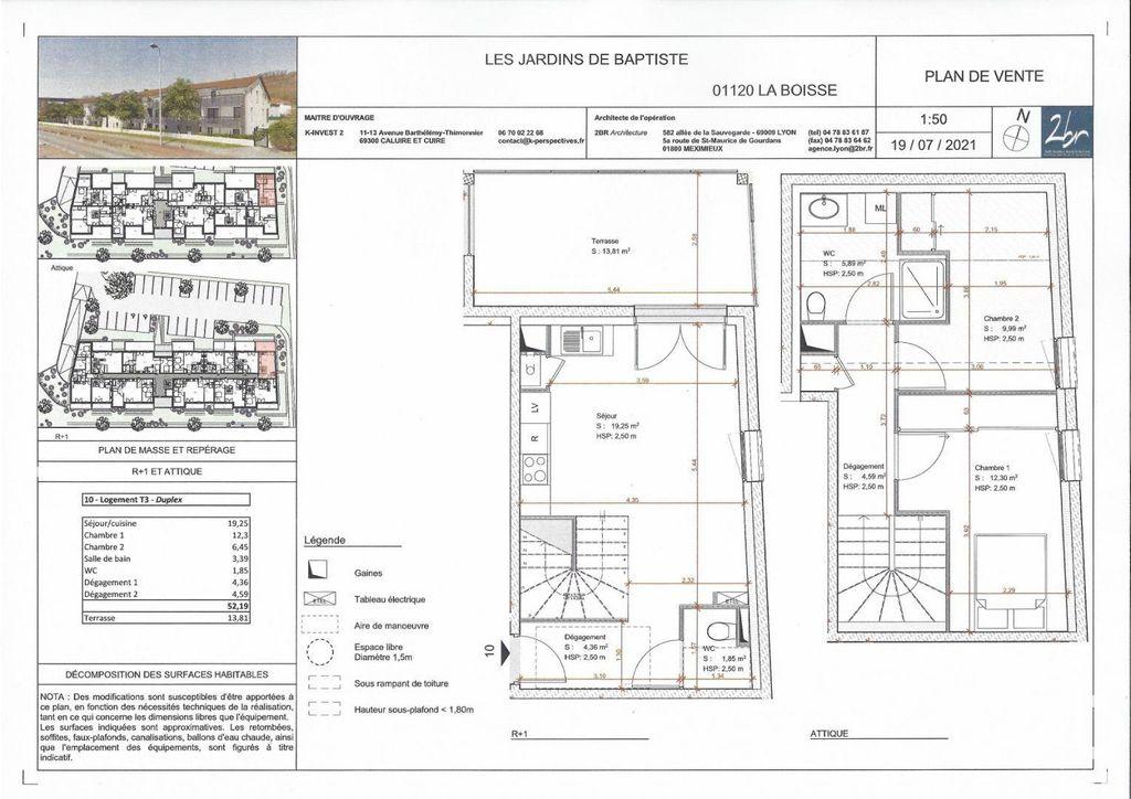 Achat duplex 3pièces 55m² - La Boisse