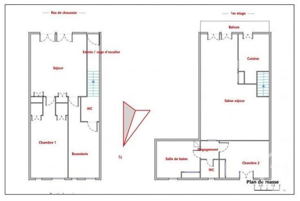 Achat maison 2chambres 121m² - Montpellier