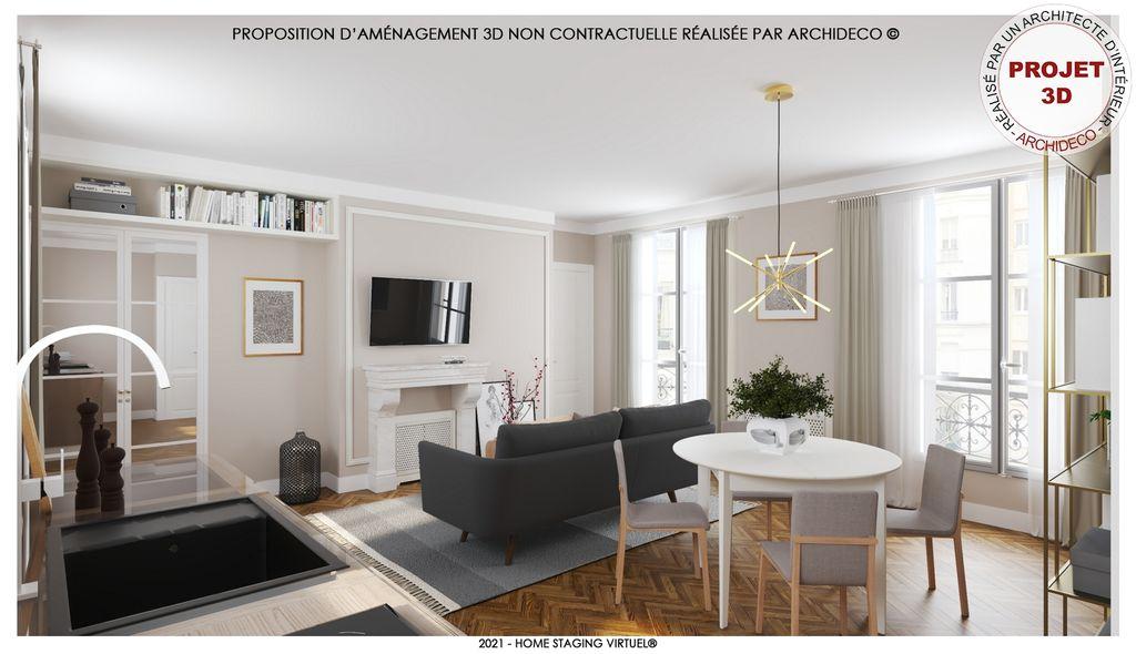 Achat appartement 3pièces 51m² - Paris 4ème arrondissement
