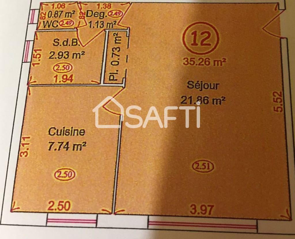 Achat appartement 2pièces 35m² - Ségny