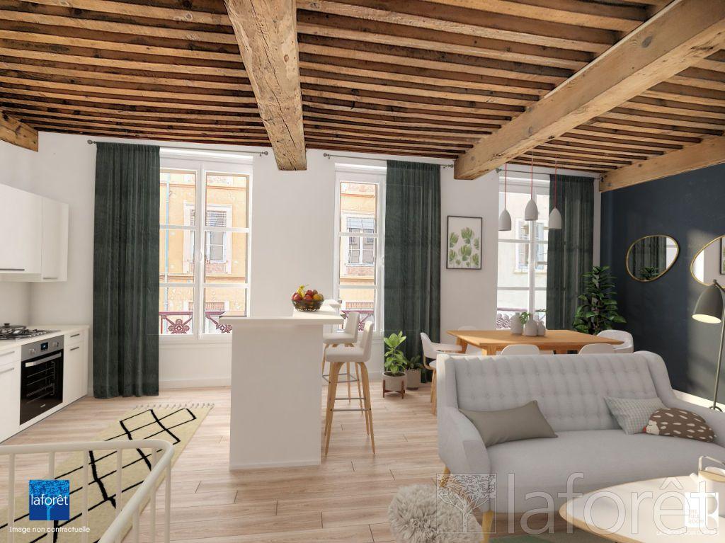 Achat duplex 3pièces 59m² - Lyon 4ème arrondissement