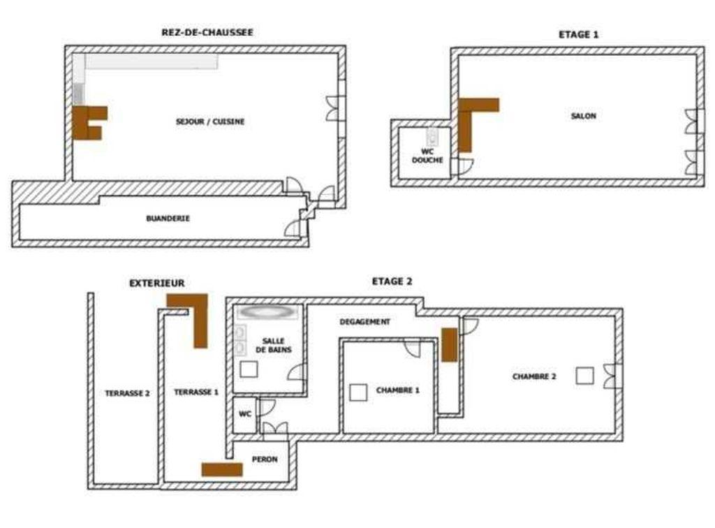 Achat maison 2chambres 108m² - Montréal-la-Cluse
