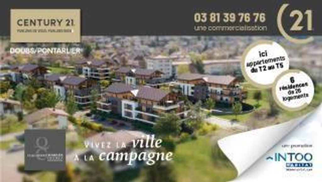 Achat appartement 2pièces 40m² - Doubs